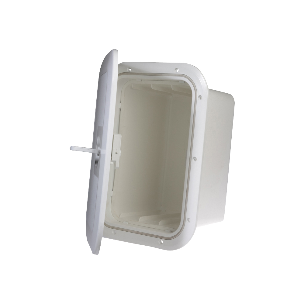 Hatch with Box - White - Lockable - 380 x 280mm