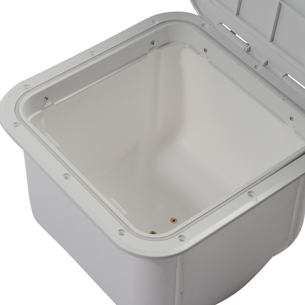 Hatch with Box - White - Lockable - 375 x 375mm
