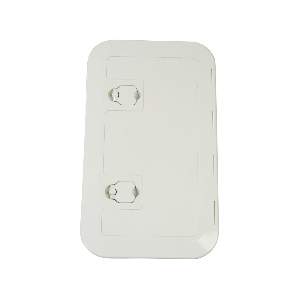 Hatch with Large Box - White - Lockable - 600 x 350mm