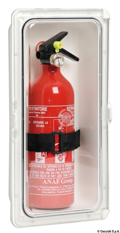 Fire Extinguisher Compartment With Clear Door