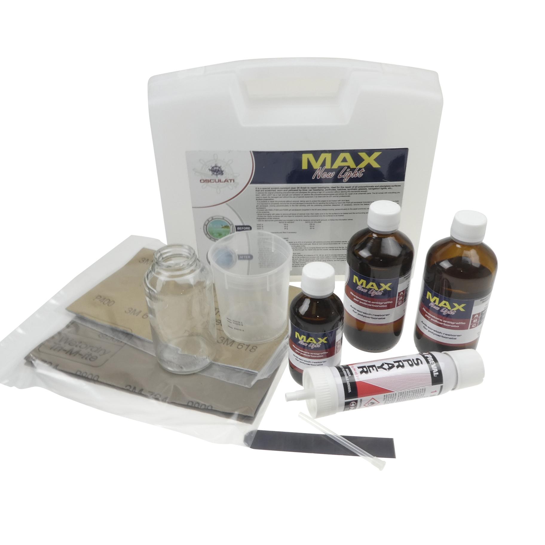 Max New Light Polycarbonate Anti-Scratch Restorer
