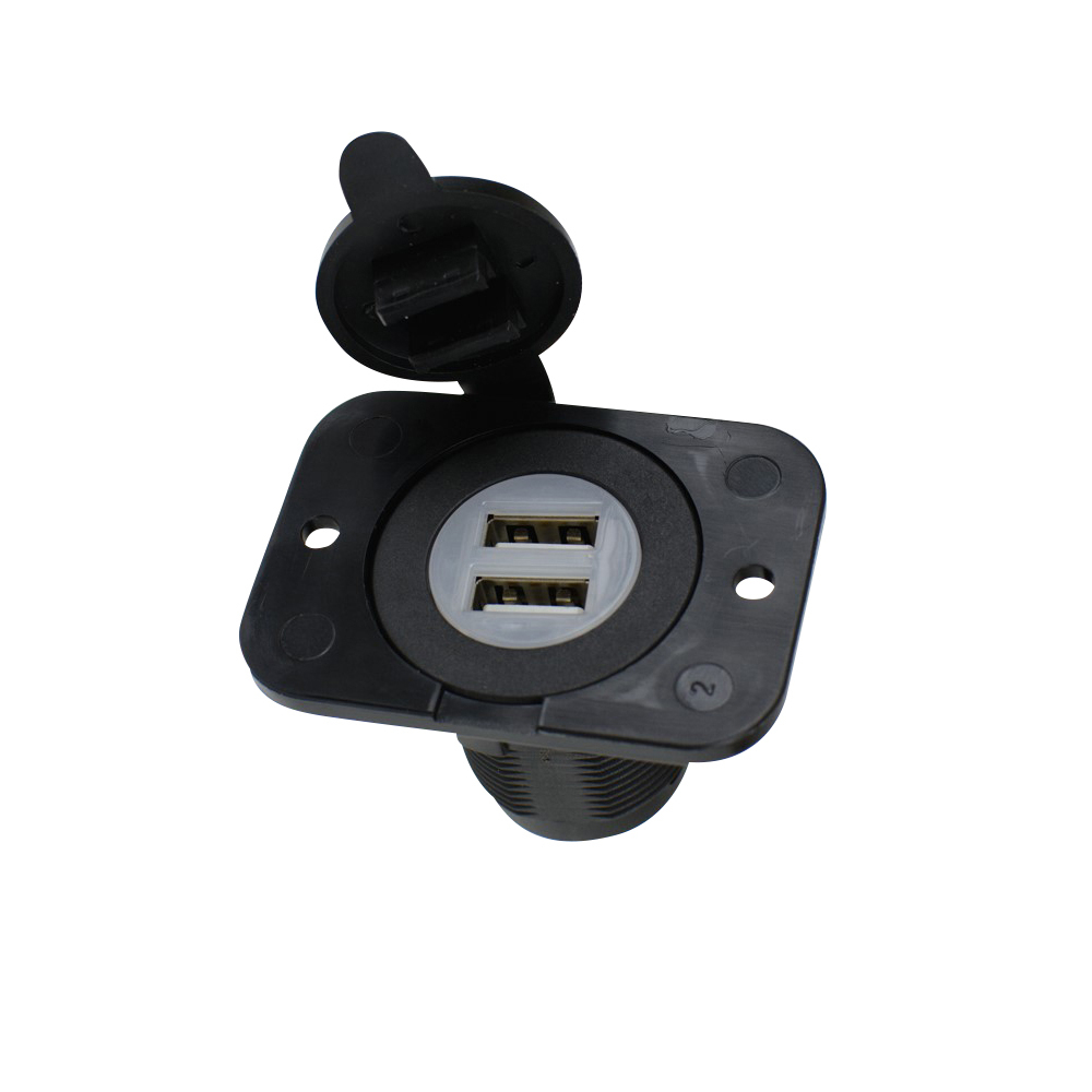 Double USB Socket - Black or White